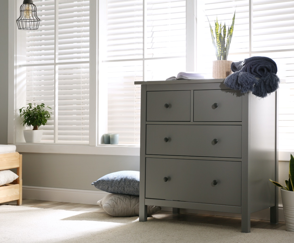 Foil Laminate Furniture   4-Drawer Dresser   Decorative Paper