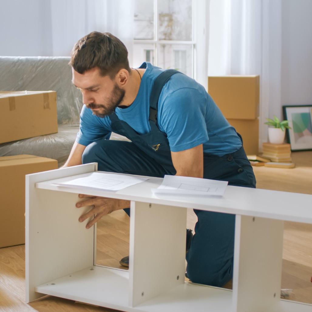 Laminage de meubles prêts à assembler | Revêtement de foil